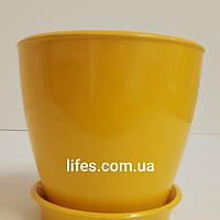 Вазон керамический ВК 13 желтый 1.2л