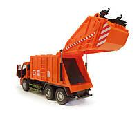 Мусоровоз 9623В оранжевый, фото 4