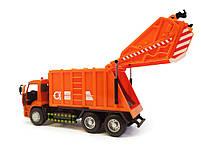 Мусоровоз 9623В оранжевый, фото 5