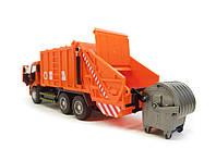 Мусоровоз 9623В оранжевый, фото 3
