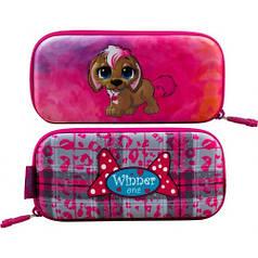 Пенал для девочки Winner розовый с щенком P-200