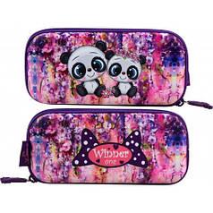 Пенал для девочки Winner фиолетовый с мишками P-202