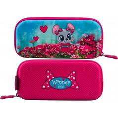 Пенал для девочки Winner розовый с мышкой P-210