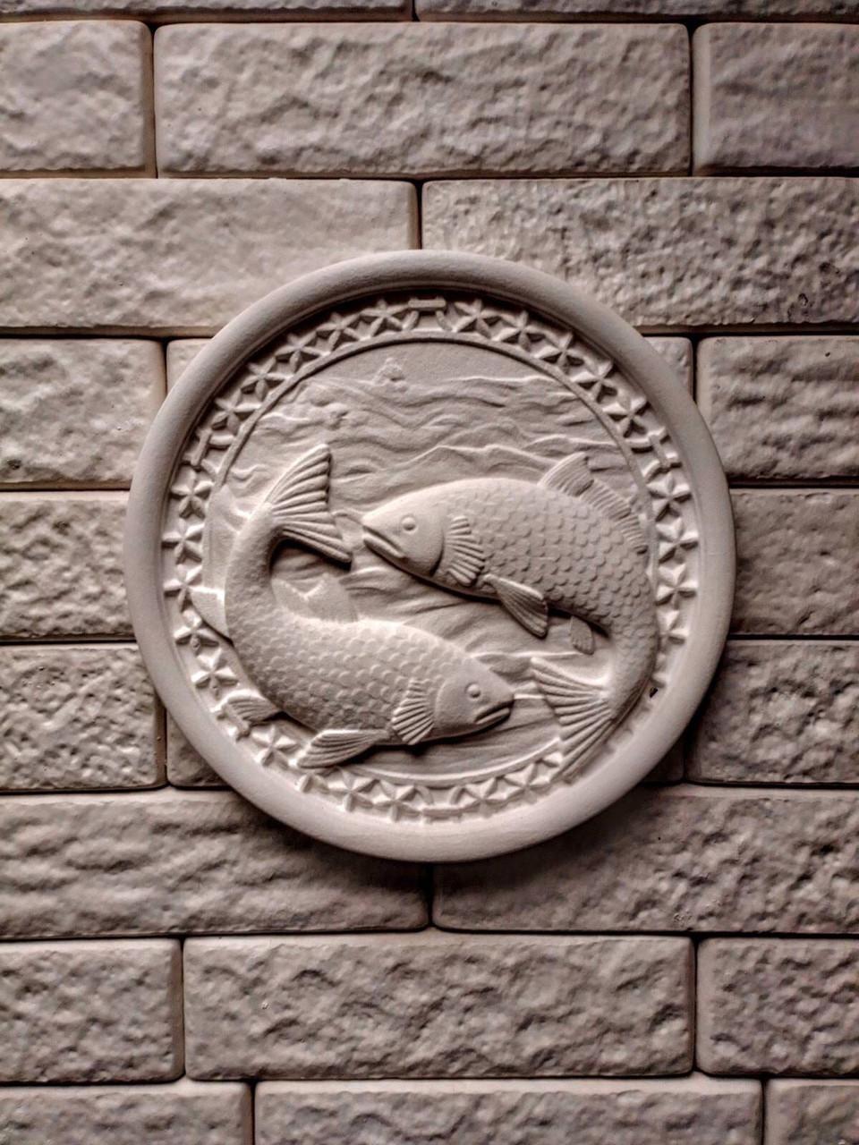 Панно декоративное, гипс ✅ Рыбы