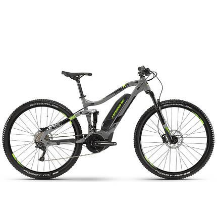 "Электровелосипед Haibike SDURO FullNine 4.0, 500Wh 20 s. Deore19 HB YCS 29"", рама M, серо-черно-зеленый,2019, фото 2"