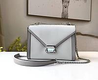 Женская брендовая сумка Michael Kors Whitney grey Lux