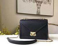 Женская брендовая сумка Michael Kors Whitney black Lux