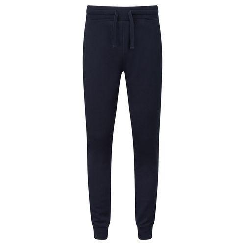 Спортивные штаны мужские с манжетами плотные темно-синие 268-32