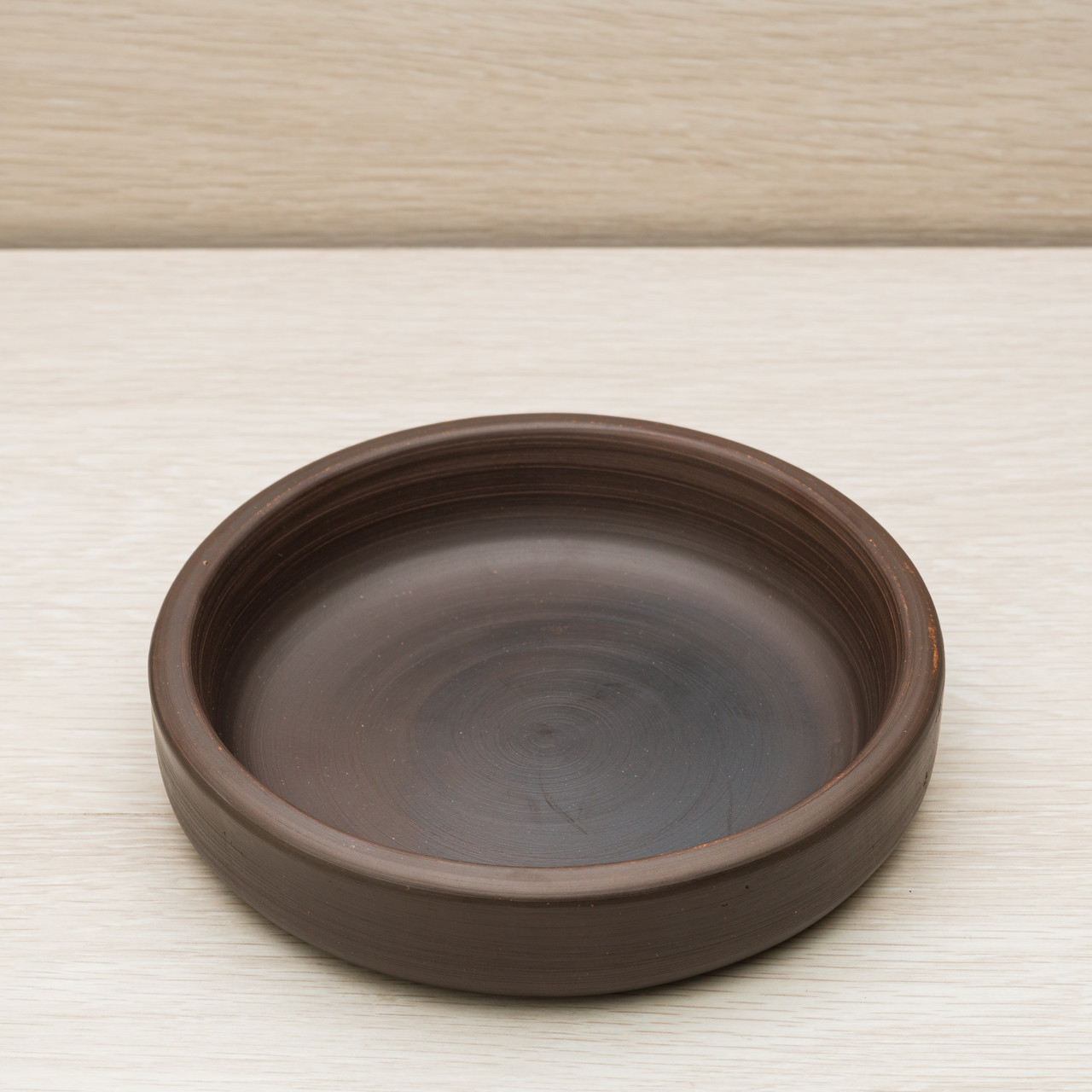 "Тарелка гончарная ""Кеци"", красная глина, диаметр 15 см"