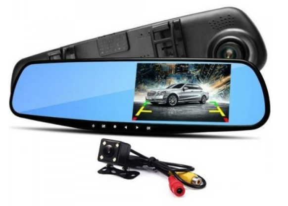 Зеркало регистратор с двумя камерами DVR  138W 4,3` two camera