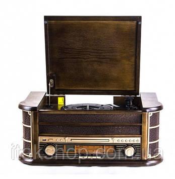 Ретро радіо програвач платівок Карузо AM/FM USB/SD/MMC (Т-402) Дерево, фото 2