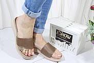 Бежевые женские шлепанцы 4Shoes 08842-Mink, фото 6