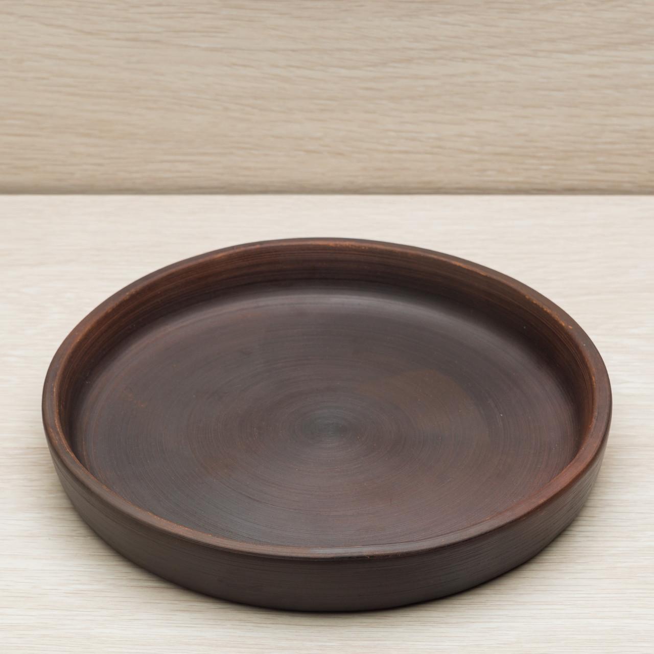 "Тарелка гончарная ""Кеци"", красная глина, диаметр 22 см"