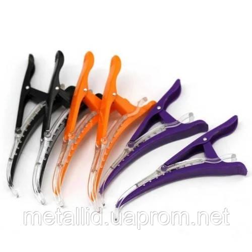 Зажимы для волос YRE ZCP-00 пластик цветные 6 шт/уп