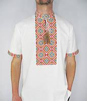 Сорочка чоловіча вишиванка льон кор/рук в асортименті рр.46-56