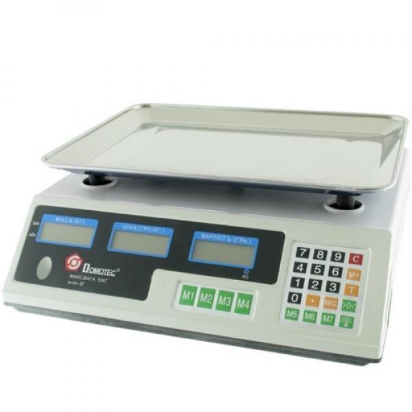 Весы Domotec ACS 50kg/5g MS 228 6V торговые с калькулятором