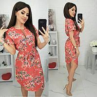 Сукня з квітковим принтом жіноче полубатальное (ПОШТУЧНО) L/46-48