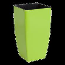 Вазон Квадро 16*16*30 см оливковый объем  2,7л