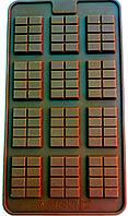 Силиконовая форма для шоколада Комплимент (12 мини шоколадок) 3,7 см 2,8 см