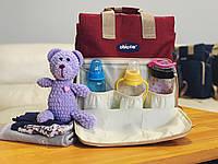 Сумка - рюкзак для мам Chicco Чико  ⏩ красный цвет
