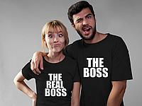 Парные футболки. Футболки для влюбленных. The boss. The real boss.