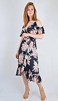 Платье - сарафан на запах нарядное O.B.J.  Турция 46247, фото 1