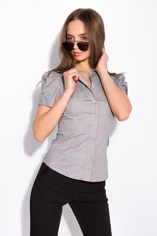 Рубашка женская однотонная 118P003 (Стальной)