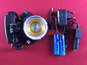 Налобный фонарик Bailong BL-T619 350LM