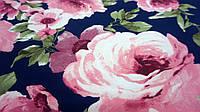 """Ткань супер-софт с цветочным принтом """"Тайна"""""""