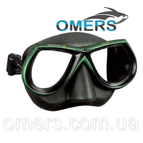Маска Mares Star зеленая для подводной охоты