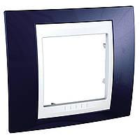 Рамка 1-модульная, индиго/белый Unica Plus
