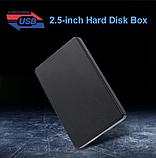 """Док станция внешний карман чехол бокс корпус для жесткого диска до 2Tb SATA HDD 2.5"""" USB 3.0, фото 3"""