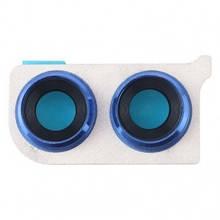 Стекло камеры Huawei Honor 8X JSN-L21, JSN-AL00 с рамкой синего цвета