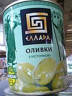 Оливки зеленые с косточкой 850г Ellada Colossal ж / б (1/12)