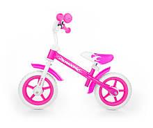 Велобег детский Milly Mally Dragon регулировка высоты (беговел, самокат-беговел, детский транспорт) Розовый