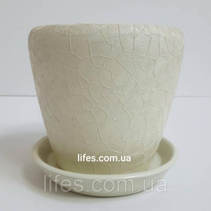 Вазон керамический шелк бежевый 1.2л