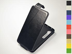 Откидной чехол из натуральной кожи для Xiaomi Mi Note 10