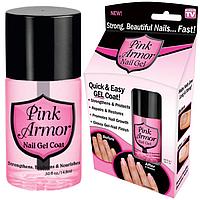 Гель для Укрепления и Роста Ногтей Pink Armor Nail Gel, фото 1