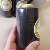 Нить N 40S/2 черная 4000 ярдов, фото 1