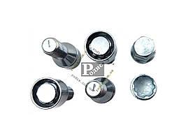 Болт 14х28 колес хром конус секретки (вращ. кольцо, 2 ключа) (ш 1.5) (4 шт) (блист) - Секретки на колеса