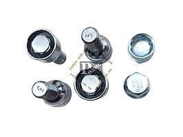 Болт 14х30 колес хром сфера секретки (вращ. кольцо, 2 ключа) (ш 1.5) (4 шт) (блист) - Секретки на колеса