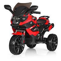 Детский электромотоцикл (2мотора25W, 2аккум, MP3, SD, USB) Bambi M 3986 Красный (M 3986 EL-3)