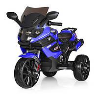 Детский электромотоцикл (2мотора25W, 2аккум, MP3, SD, USB) Bambi M 3986 Синий (M 3986 EL-4)