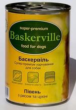Вологий корм для собак Baskerville (Баскервіль) консерва півень + цукіні, 800 г