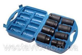 Набор головок для гайковерта  24, 27, 30, 32, 33, 36, 38, 41 мм