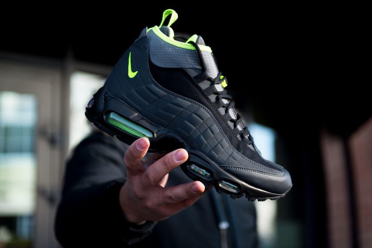 Кроссовки Nike Air Max 95 Sneakerboot Anthracite Volt