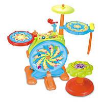 Детская барабанная установка Hola 666 Разноцветный 2-666-36829, КОД: 974518