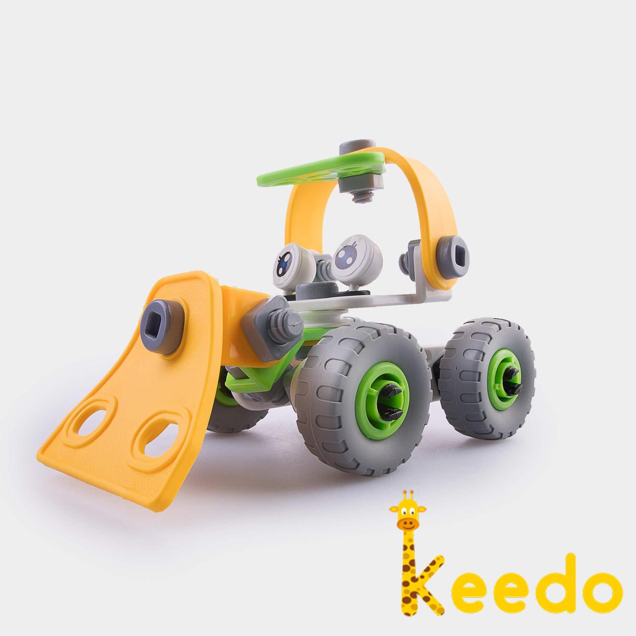 Конструктор KEEDO с мягкими деталями Машинка на 56 деталей