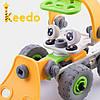 Конструктор KEEDO с мягкими деталями Машинка на 56 деталей, фото 4