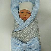 Летний конверт для новорожденного на выписку.
